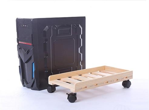 Moving massivholz Desktop PC Fall Computer Einstellbarer CPU Stand Turm Halter
