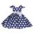 2017 Cabritos Del Verano muchachas del Vestido de Los Vestidos Clásicos de La Vendimia polka dot Bebé Boda vestido de Fiesta de cumpleaños Para 1 2 4 5 6 7 8 años