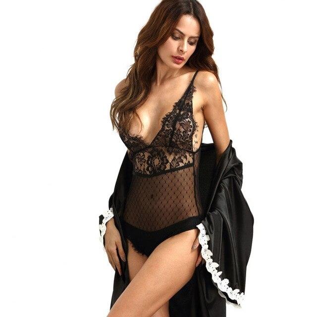 2017 Negro Sexy Halter de Las Mujeres Mono Delgado Encaje Floral Mameluco Body de Malla Sin Espalda Bodycon Mono Ladies Combinaiso Feminino
