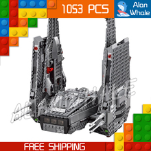 1053pcs New Space Wars Kylo Rens Command Shuttle 05006 Spaceship Model Building Blocks Stormtrooper Toys Compatible