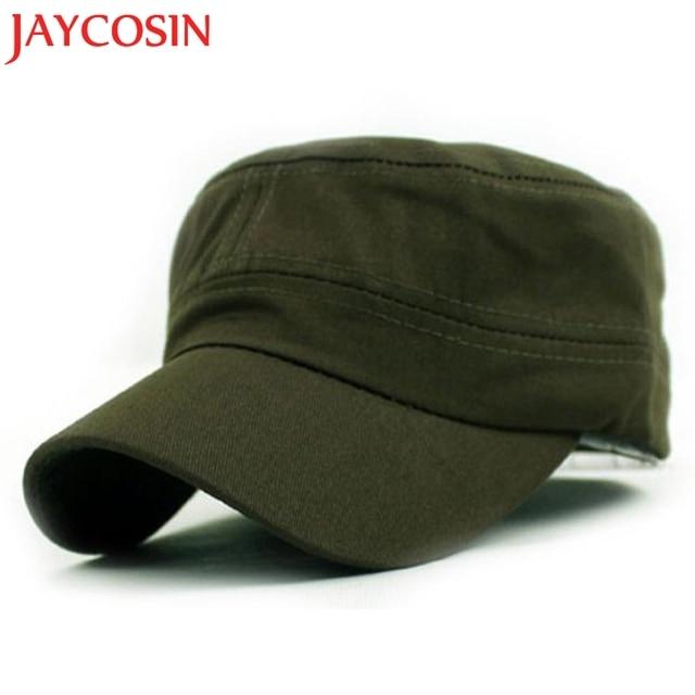 401516da58b Hot Sales SIF 2017 Stylish Fashion Baseball Field Caps Unisex Flat Roof Hat  For Man Cadet Patrol Bush Hat Casual Men Caps 412