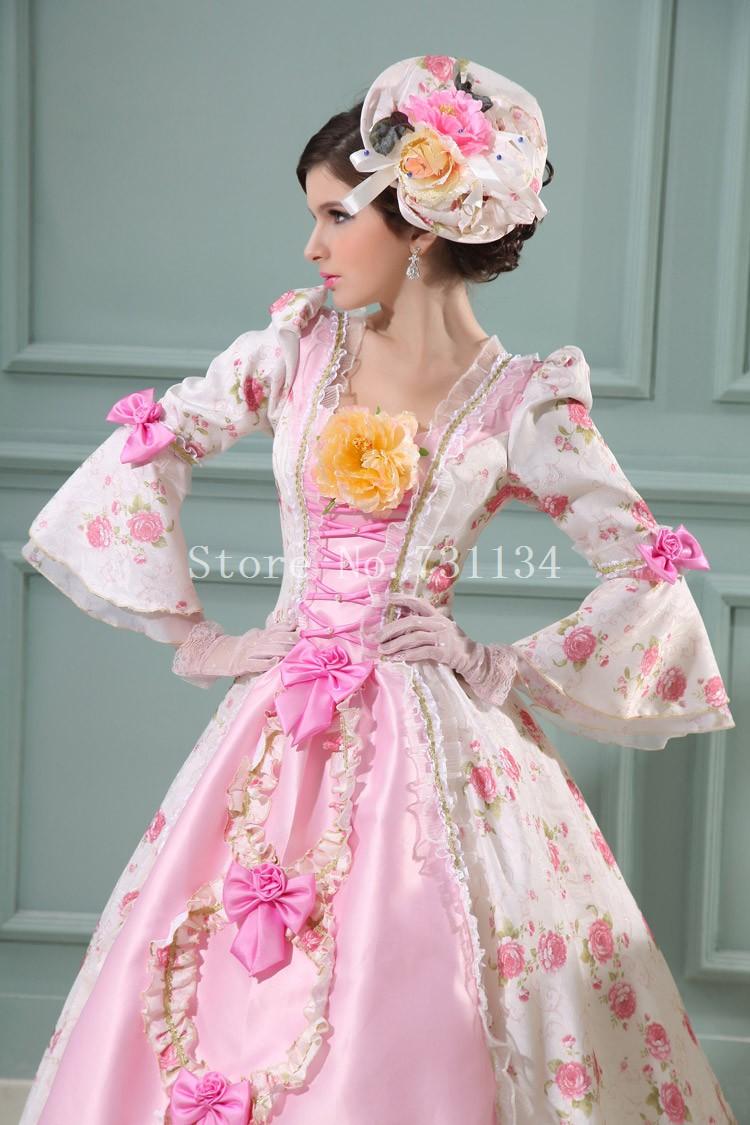 Mejor venta Pink barroco rococó 17th 18th siglo Marie Antoinette ...