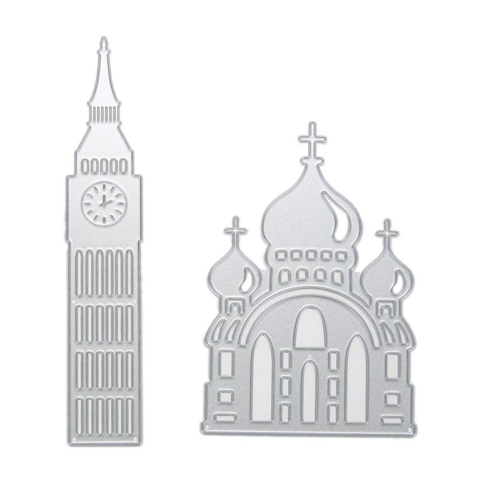 Church Metal Cutting Dies Stencil Paper Card Scrapbook Embossing DIY Craft Cutting Dies Template