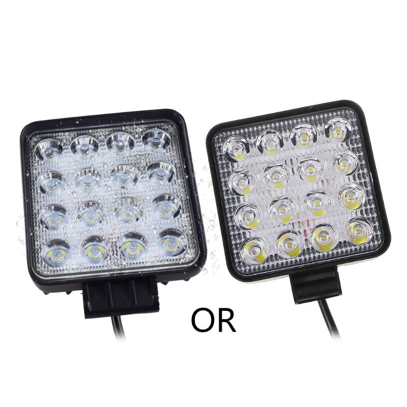 48W Vehicel Headlights 16LEDs Cool White Light Bar 4inch Vehicle Work Light LED Truck For SUV Qiang