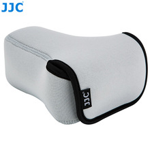 JJC bolsa sin espejo para cámara DSLR, funda suave para Sony A6600 A6100 A6300 A6400 A6500 Fujifilm XT30 XT20 XT10 + 55 210mm
