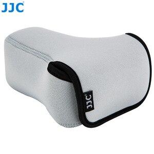Image 1 - Jjc 미러리스 카메라 파우치 소프트 dslr 케이스 가방 소니 a6600 a6100 a6300 a6400 a6500 후지 필름 xt30 xt20 xt10 + 55 210mm 렌즈