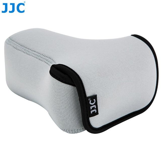 Jjc 미러리스 카메라 파우치 소프트 dslr 케이스 가방 소니 a6600 a6100 a6300 a6400 a6500 후지 필름 xt30 xt20 xt10 + 55 210mm 렌즈