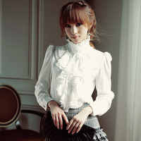 The New Spring Blouse Long Sleeved Chiffon Shirt Size White Shirt Collar Lace Sweater Wholesale Agent