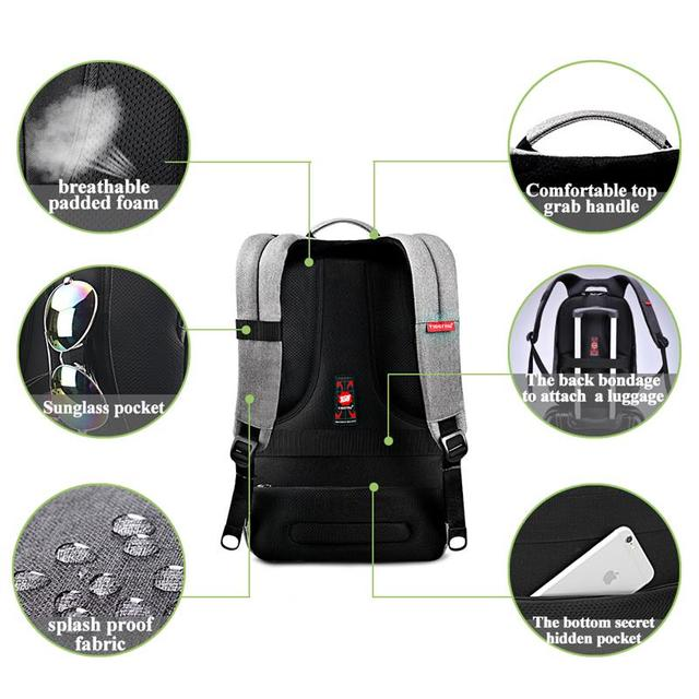 Tigernu Anti thief USB bagpack 15.6inch laptop backpack for women Men school backpack Bag for teens boys Male Travel Mochila 2