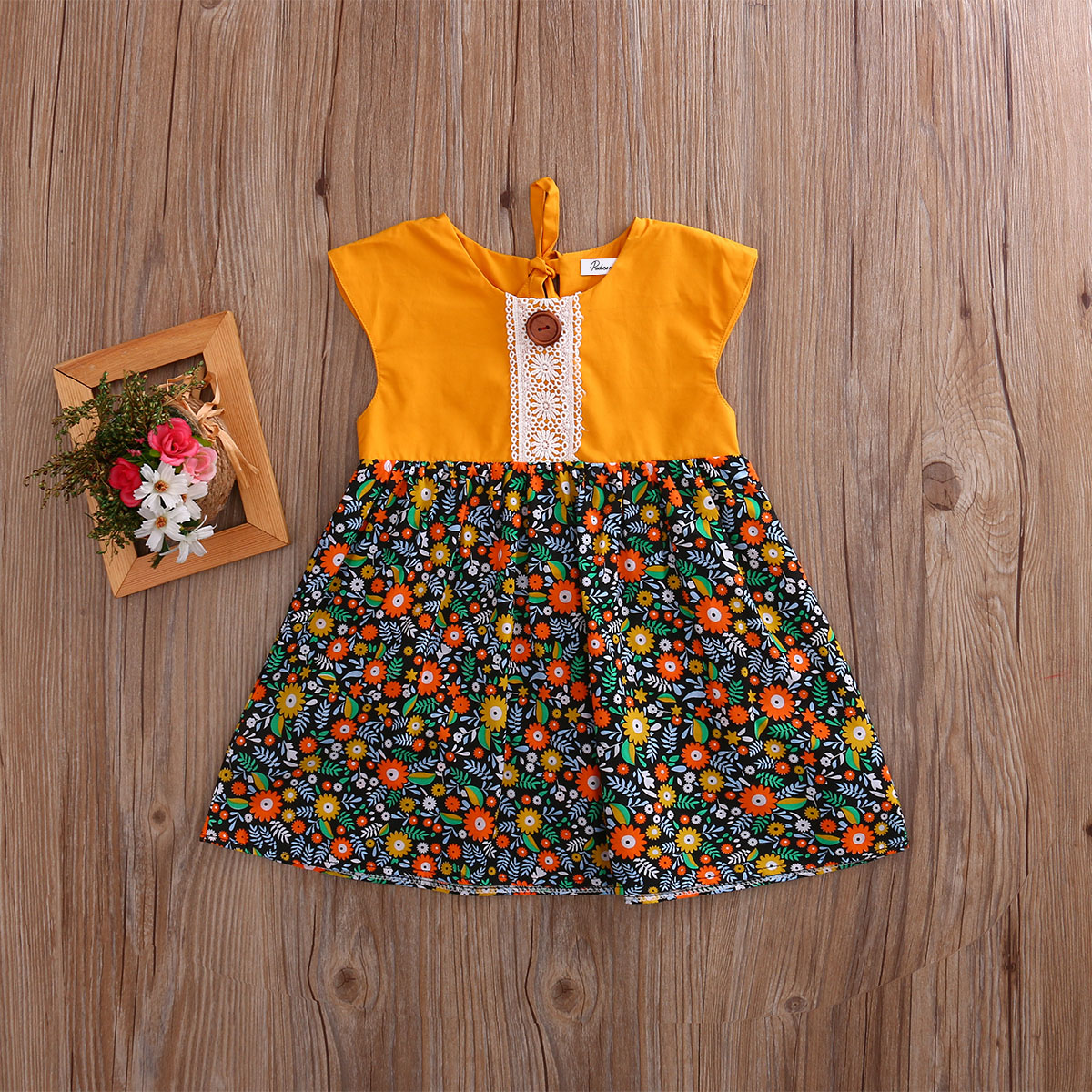 Bohemian-Floral-Toddler-Baby-Kids-Girls-Summer-Lace-Flower-Sundress-Party-Dress-Clothes-0-4T-1