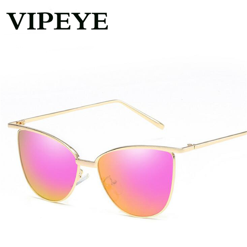 New Personality High-Quality Metal Cat Eye Sunglasses Women Men Fashion Trend Simple Colorful Retro Sungalsses For Mens Womens ...