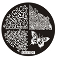 2016 Pattern Nail Art Image Stamp Stamping Plates Manicure Template 004