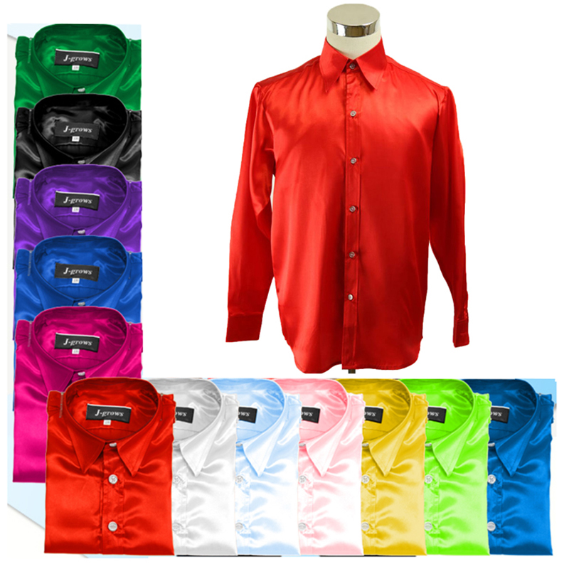 Mens Shirt Stage Performance Color Silk Night Club Dance Choir Trend Shirt ...