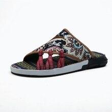 купить!  2019 летние мужские тапочки повседневная обувь дышащая прохладная мужская пляжная обувь мода национа