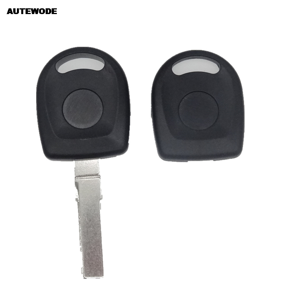 Autewode Замена транспондера Оболочки брелок для Skoda FELICIA OCTAVIA FABIA SUPERB ключ Uncut банка лезвия