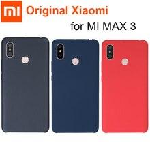 Coque dorigine Xiao mi mi max 3 housse Xiao mi max 3 coque arrière rigide PC + fibre souple antichoc housse en tissu capas mi max 3 pro