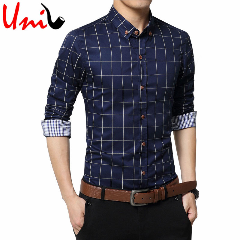Buy plus size 4xl 5xl 2016 men 39 s plaid for Where to buy casual dress shirts