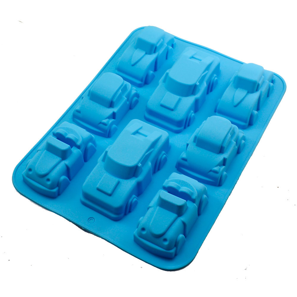 Factory direct selling wholesale automobile car shape silicone cake jelly pudding mold manual ice cube soap making silicone mold in Soap Molds from Home Garden