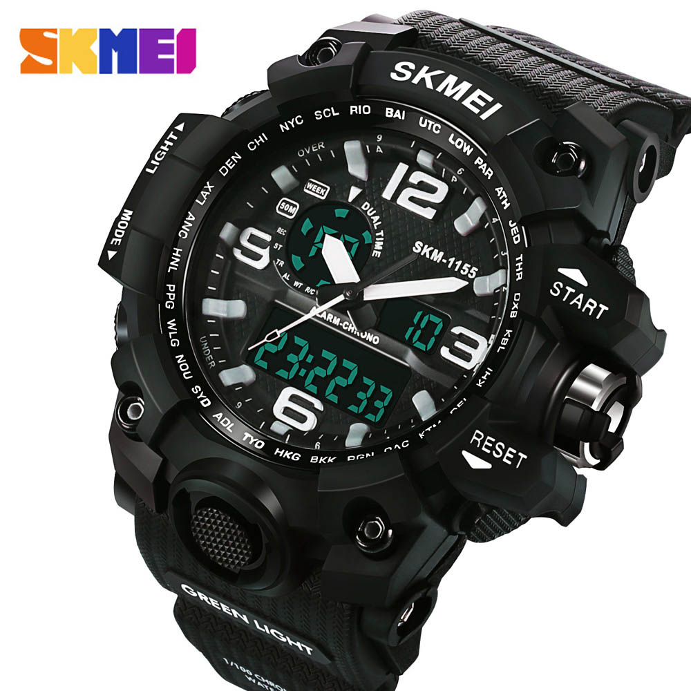 2016 skmei big dial men 39 s digital watch s shock military for What watch to buy