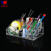 YMJ LCD Repair Tools Acrylic Storage Rack Transparent Cosmetic Component Box Lipstick Screwdriver Component Display Stand(China)