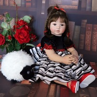 60cm Silicone Reborn Baby Doll Toy Like Real Vinyl Princess Toddler Babies Child Birthday Gift Girls Play House Boneca Brinquedo