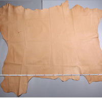 Brown Genuine Pig grain skin leather raw material sale by whole piece