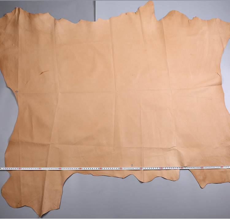 Brown Genuine Pig grain skin leather raw material sale by whole piece image