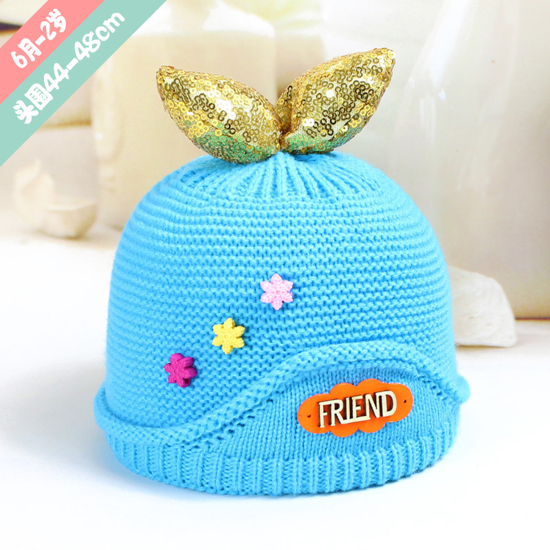 Lovely Whale Tail Children's Caps Bonnet Beanies Knitted Hat Skullie Hats Warm Winter Girls Protect the Ears Warm Caps 2017 крис мичелл chris michell the last whale