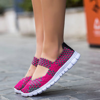 2016 Fashion Woman Casual Shoes New Arrivals Breathable Weaving Women Shoes