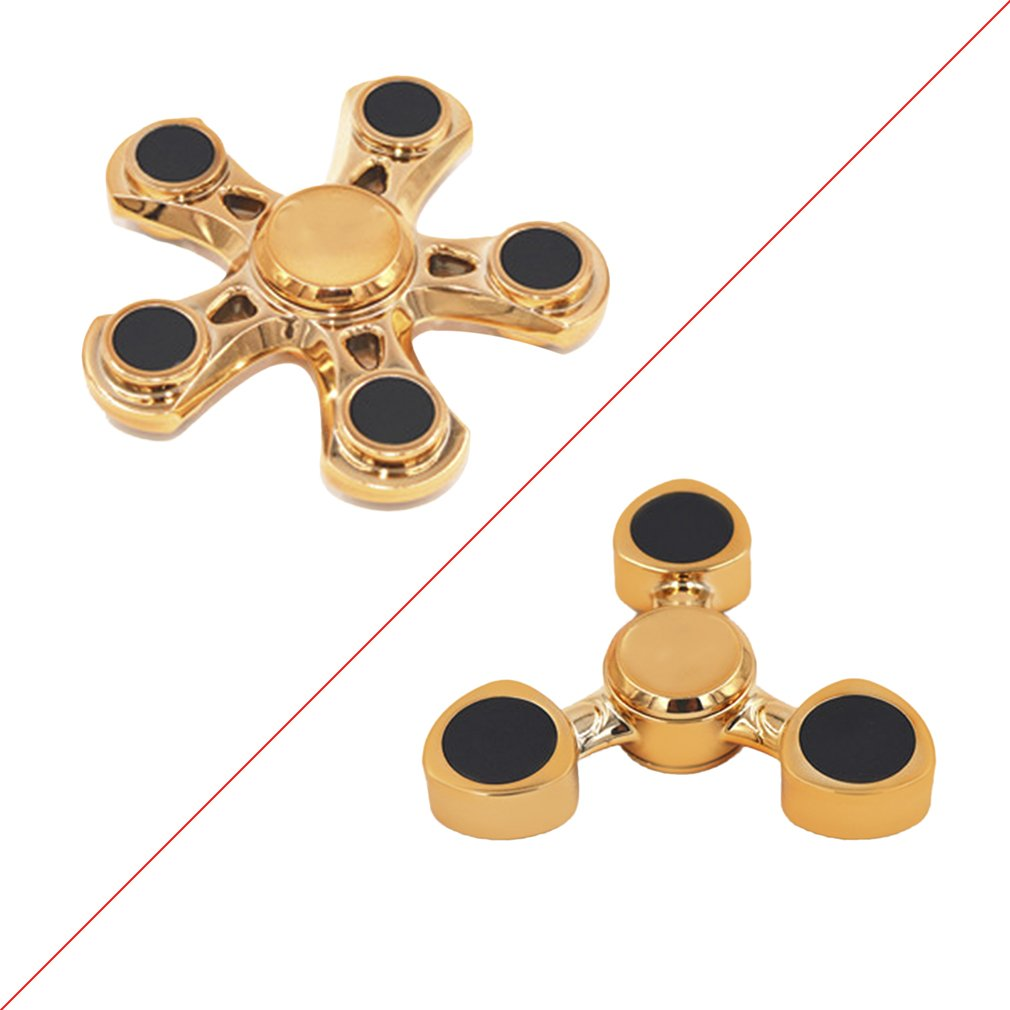 Electroplating Hand Spinner Finger Spin Toy Plastic Tip For Stress Out Autism Relief Rotation Interest Pressure Reduce Clearance