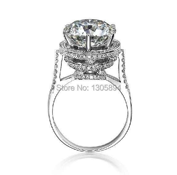 Equisite 5Ct Rings for Women Luxury Design NSCD Lovely Diamond Wedding Rings Silver 925 Platinum Plated