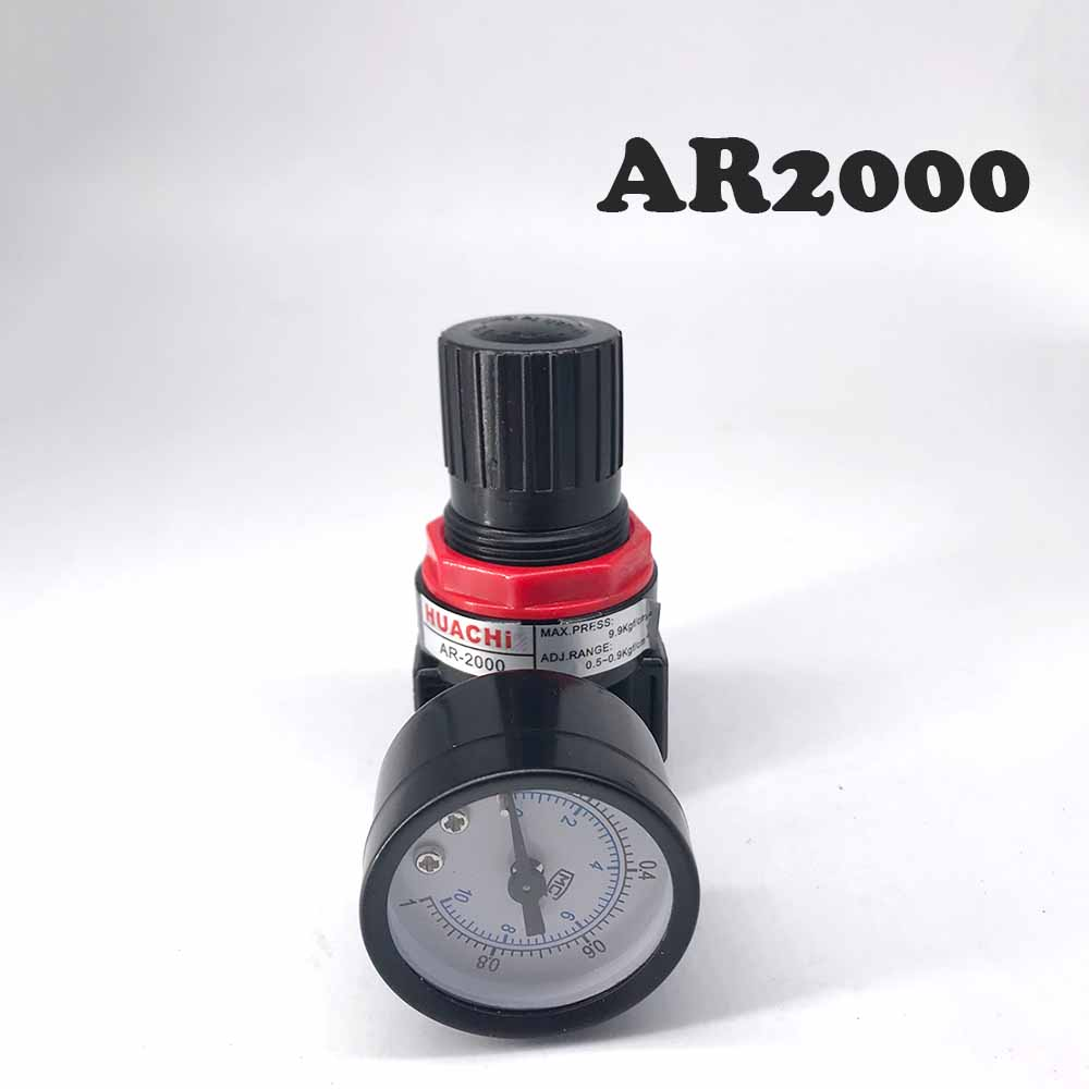 Free Shipping AR2000 Pressure reducing BSPT with Gauge and Bracket 1000L/min  valve  Pressure Regulator 1/4 yuci yuken pressure reducing and relieving valves rbg 03 10 hydraulic valve