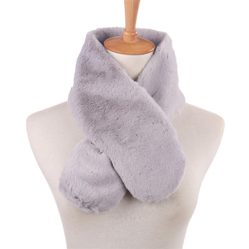Winter Women Faux Raccoon Fur Scarf For Ladies Luxury Rabbit Fur Collar Scarf Wrap Women Warm Soft Neck Warmer Neck Collar