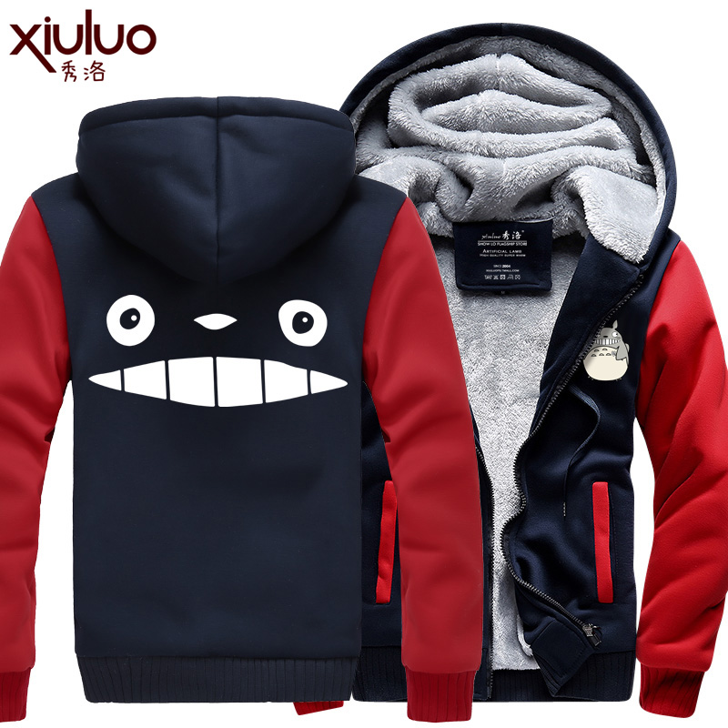 New Fashion Tonari no Totoro Popular font b Hoodie b font Coat Sweatshirt Thicken Jacket Zipper