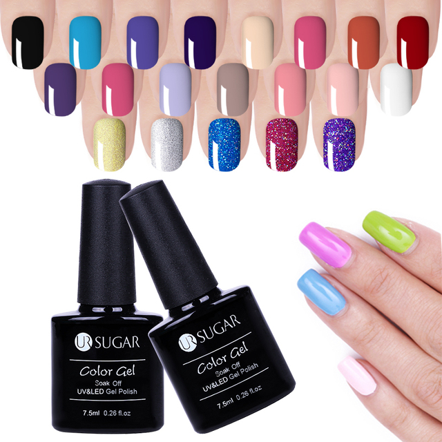 UR SUGAR Nail Art Design Manicure 112 Color 7.5ML Soak Off Enamel Gel Polish LED UV Gel Nail Polishes Lacquer