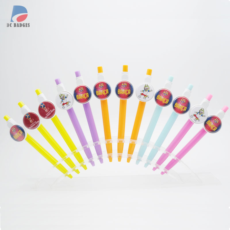 Free shipping 500sets Ballpoint mix color 25mm button ballpen material without the football pictures
