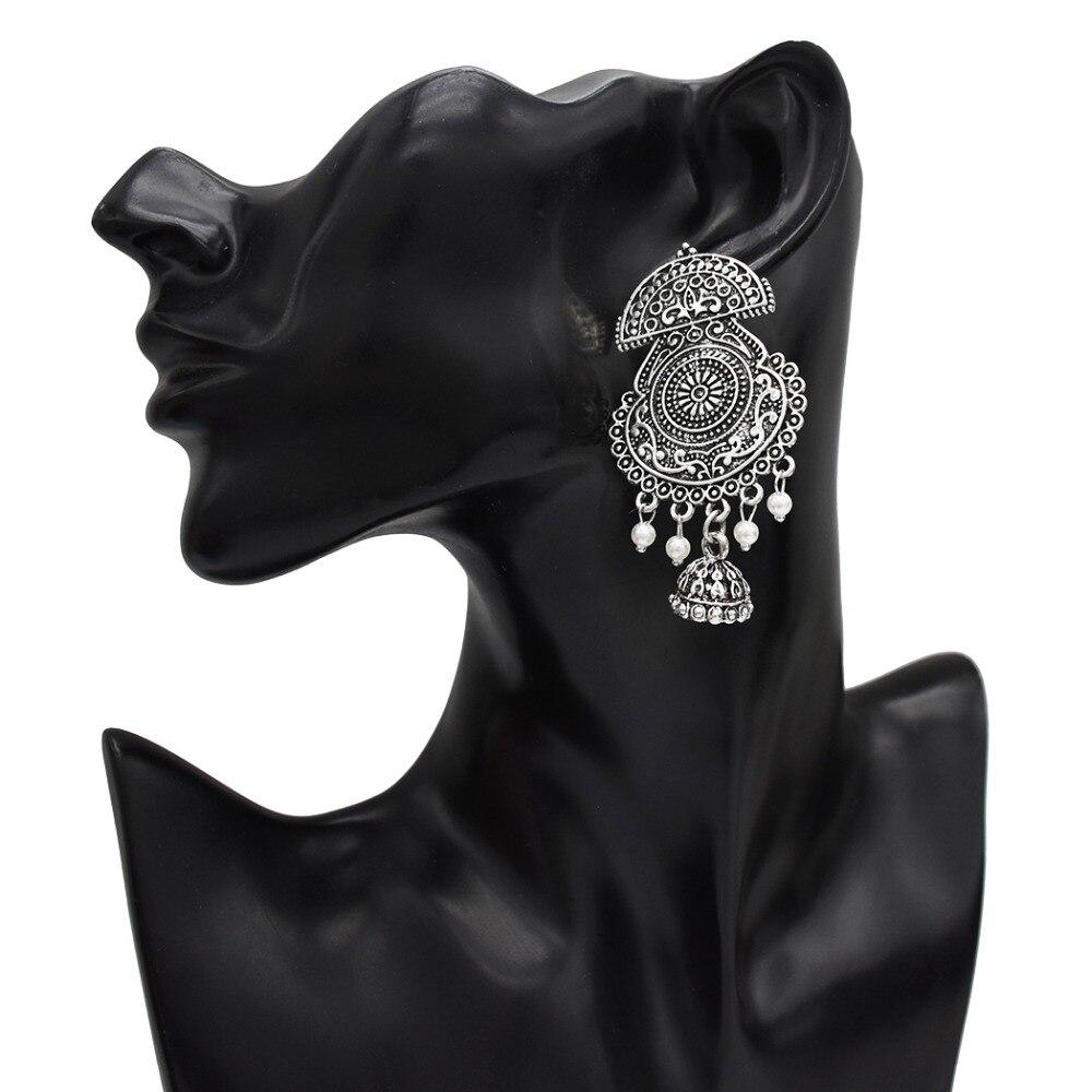 Jewelry & Accessories Earrings Pakistan Turk Vintage Long Tassel Earrings Ethnic Bell Women Earrings For Wedding Boho Indian Jhumka Earings Drop Afghan Jewelry Bracing Up The Whole System And Strengthening It