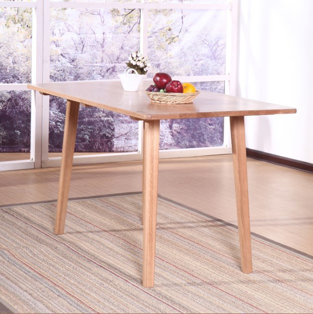 4 people sit oak furniture minimalist modern Japanese