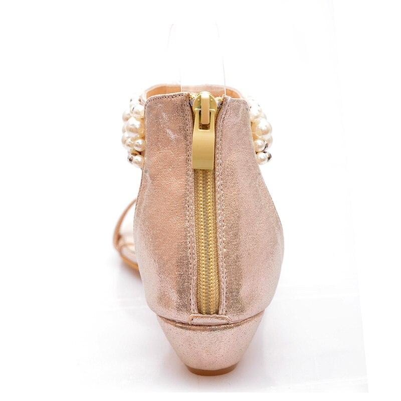 Bohemia Mujer Casual Rebordeado Femeninos oro Bling De 2018 Sandalias Negro Verano Wedge Zapatos Estilo Playa Señoras Hqgad0