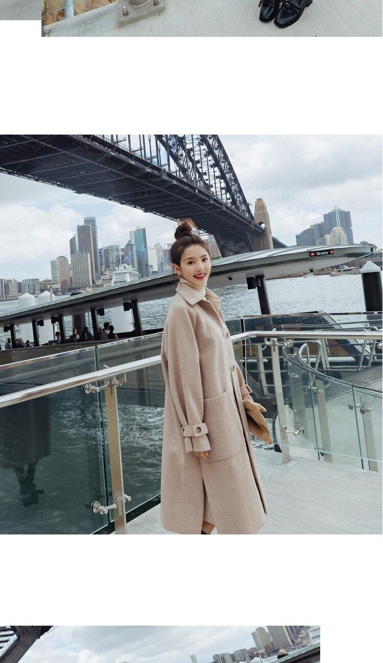 Avive82 Wollmantel Großhandel Langer Wollmantel Lange 52 Frauen Von Koreanische Frühlingsherbst Weiblicher Jacke Einreiher 2019 Frau Mantel Dünner ZXPkuTOi