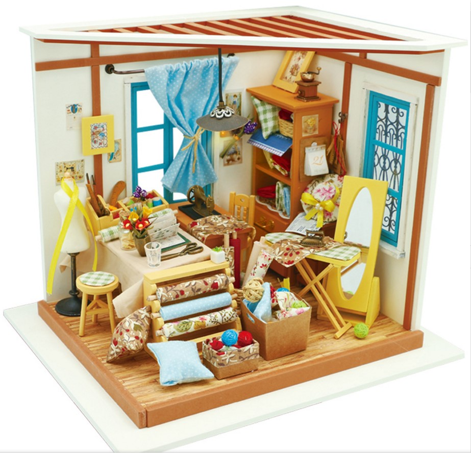 DIY Doll House With Light 3D Wooden Puzzle Handmade Crafts Girls Christmas Gifts Lisas Tailor House DG101 PayPal Payment