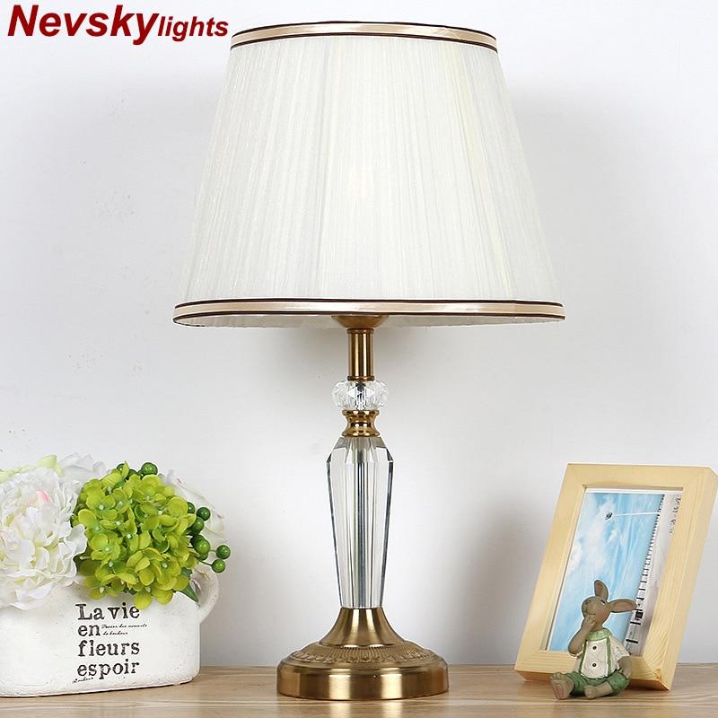 lamparas de mesa para el dormitorio Crystal Table Lamp Desk lights decor table lights bulb lamp