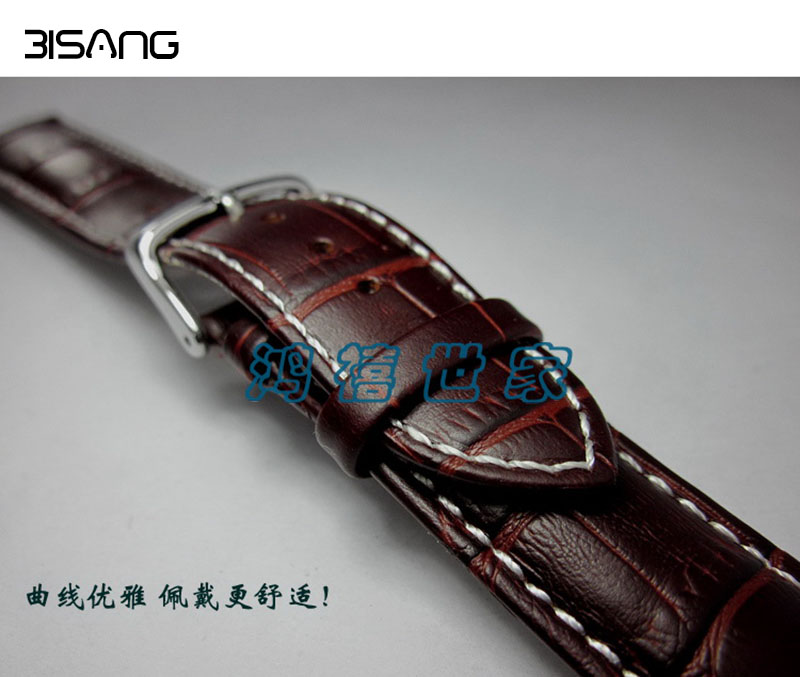 Men Steel Buckle Watch bands, 19mm20mm22mm Leather Strap, High-Quality Calfskin Watchbands For Breitling , Free shipping! все цены