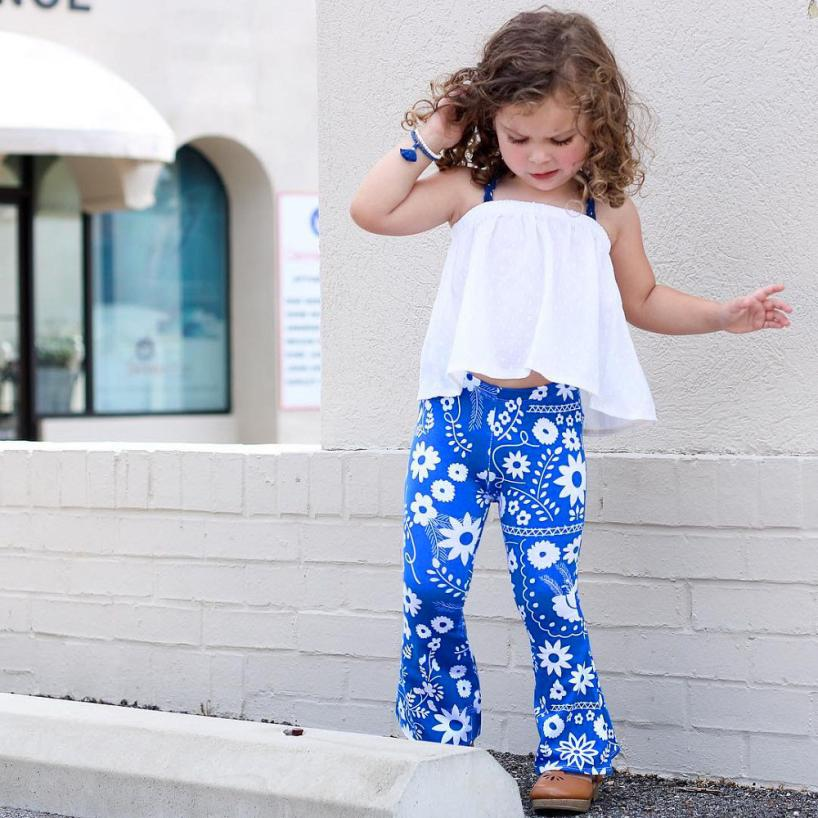 76f68fd7c3 Toddler Kids Baby Girl flare pants Leggings Bell-bottoms long Pants Flare Trousers  boot cut children s clothing kids Fashion