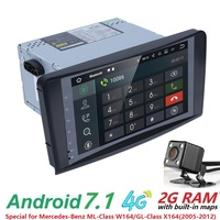 Wholesales! 2Din 9Inch Android7.1 Car NO DVD Player For Mercedes/Benz/ML/GL CLASS W164 ML350 ML500 GL320 Canbus 4GWifi GPS Radio