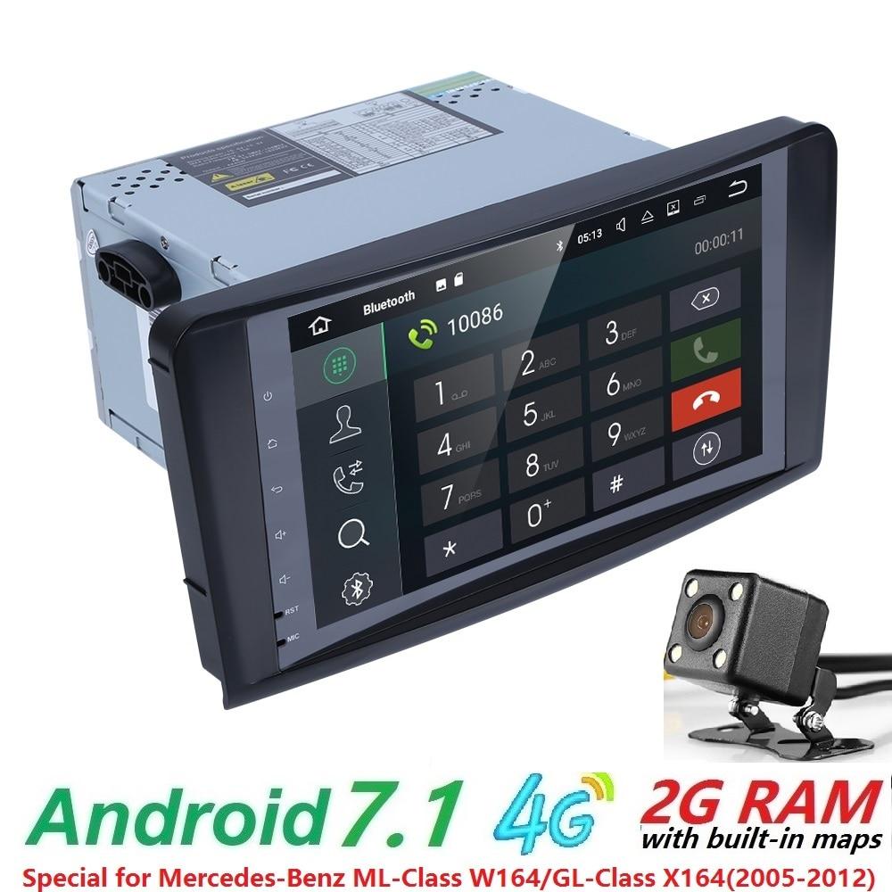 Оптовые продажи! 2DIN с 9дюйм Android7.1 автомобиля нет-DVD-плеер для MERCEDES/бенз/мл/GL класс w164 Мерседес именно ml350 ML500 GL320 шины canbus 4GWifi GPS Радио