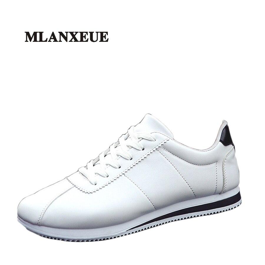 Mlanxeue Hombres Primavera Blanco Zapatos Moda Hombre Zapatos Transpirables Ultr
