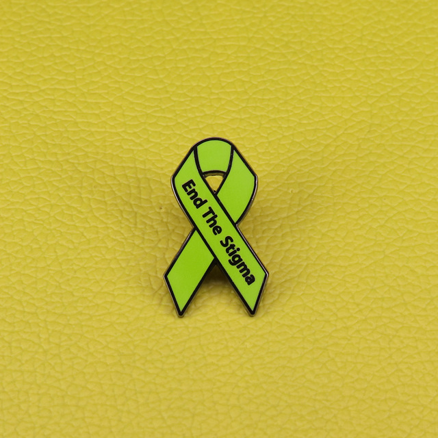 End The Stigma Enamel Pin Stop Mental Illness Brooch Health