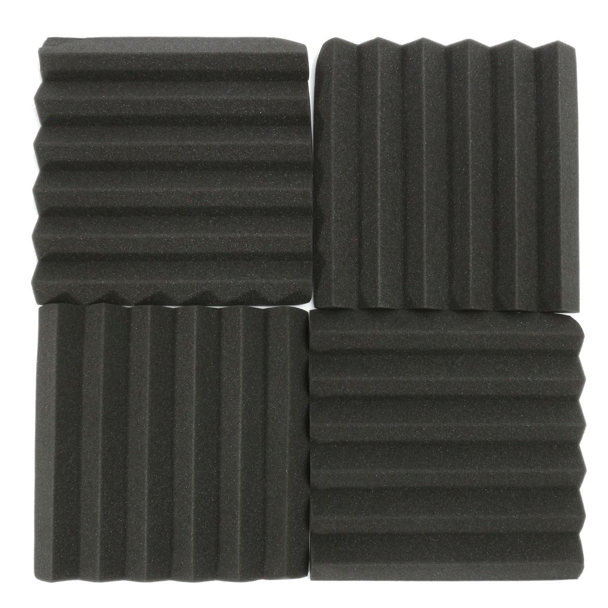 8 Pcs Sound Insulation Foam Acoustic Foam Sound Treatment Studio Room Absorption Wedge Foam-MUSIC