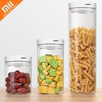 Original xiaomi mijia 17PIN glass storage tank sealed grain nut jar kitchen classification food storage box container